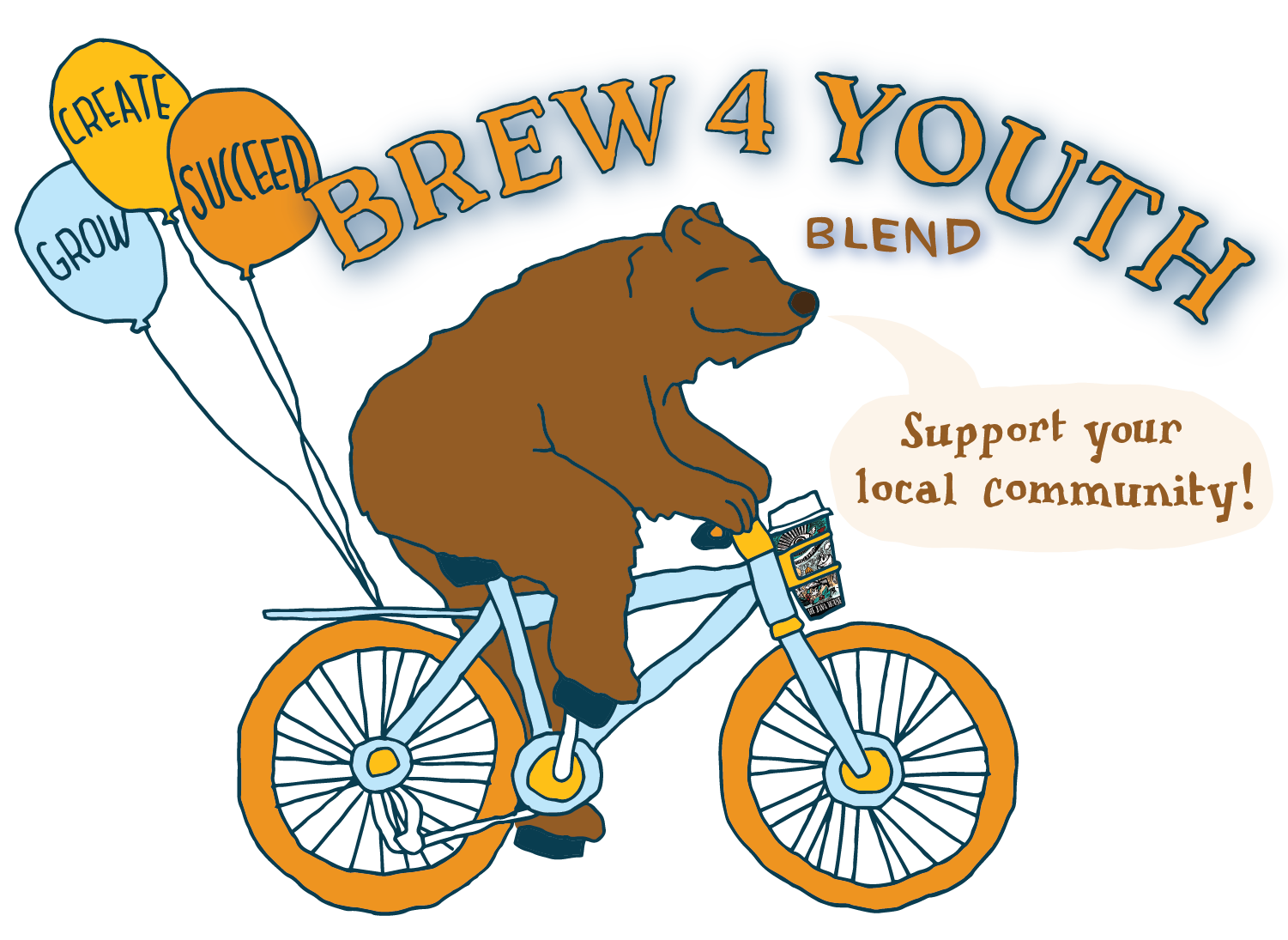 Brew 4 Youth Blend. Support Your Local Community!